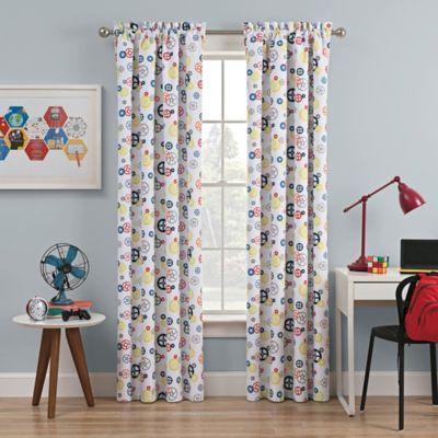 Waverly Kids Wind Me Up 84 Inch Rod Pocket Room Darkening Window Curtain  Panel In