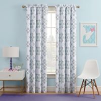 Waverly Kids Ipanema 84-Inch Rod Pocket Rom Darkening Window Curtain Panel in Aqua