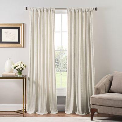 Stockton Velvet Rod Pocket Back Tab Window Curtain Panel