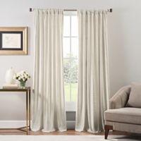 Stockton Velvet 108-Inch Rod Pocket/Back Tab Window Curtain Panel in Ivory