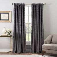 Stockton Velvet 84-Inch Rod Pocket/Back Tab Window Curtain Panel in Pewter