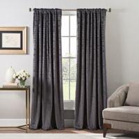 Stockton Velvet 84-Inch Rod Pocket/Back Tab Window Curtain Panel in Pewter