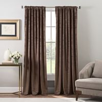 Stockton Velvet 63-Inch Rod Pocket/Back Tab Window Curtain Panel in Mocha