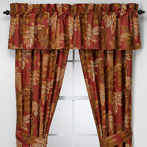 tommy bahama orange cay valance bed bath beyond. Black Bedroom Furniture Sets. Home Design Ideas