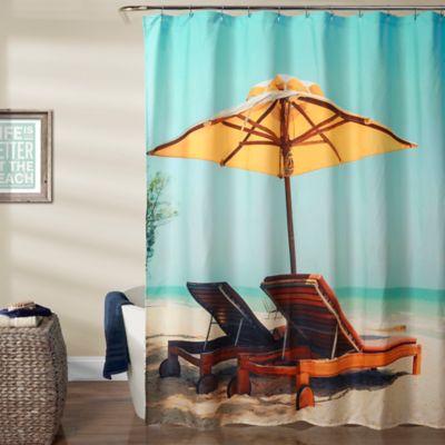 Lush Decor 70 Inch X 72 Beach Chair Shower Curtain In Blue