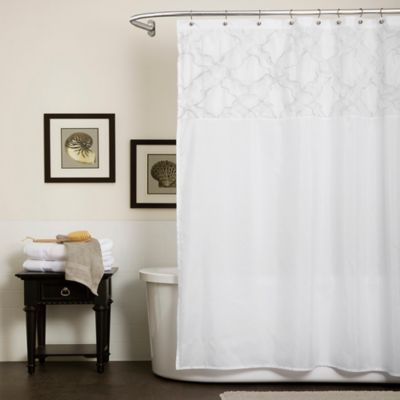 Lush Décor Misty Meadow Shower Curtain In White