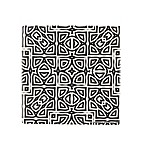 Thirstystone® Alahambra Single Square Coaster in Black/White