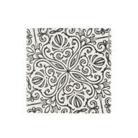 Thirstystone® Suriah Tile Single Square Coaster in Black/White