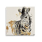 Thirstystone® Gold Water Zebra Square Single Coaster