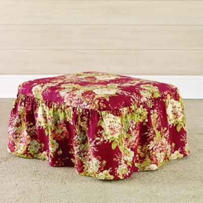 Sure Fit® Ballad Bouquet by Waverly™ Ottoman Slipcover