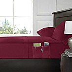 Smart Queen Sheet Set with Pocket in Burgundy