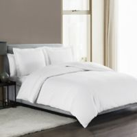 Highline Bedding Co Sullivan Solid King Duvet Cover Set In White