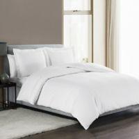 Highline Bedding Co. Sullivan Solid Queen Duvet Cover Set in White