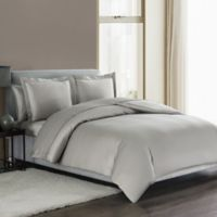 Highline Bedding Co. Sullivan Solid Queen Duvet Cover Set in Dove