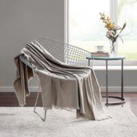 Highline Bedding Co. Sullivan Throw Blanket in Taupe