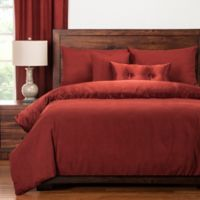 PoloGear Gateway Reversible Queen Duvet Cover Set in Brick