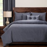 PoloGear Gateway Reversible Queen Duvet Cover Set in Denim