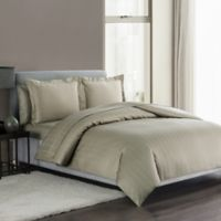 Highline Bedding Co. Sullivan Pinstripe Queen Duvet Cover Set in Taupe