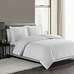 Highline Bedding Co. Sullivan Pinstripe King Duvet Cover Set in White
