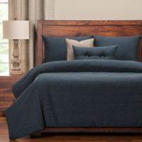 PoloGear Belmont California King Duvet Cover Set in Deep Blue
