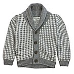Sovereign Code™ Size 0-3M Shawl Collar Cardigan in Grey/White