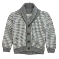 Sovereign Code™ Size 3T Shawl Collar Cardigan in Grey/White