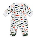 carter's® Size 9M Dino Snap-Up Sleep & Play Footie in White
