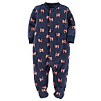 carter's® Size 3M Fox Snap-Up Sleep & Play Footie in Navy