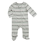 aden® by aden + anais® Size 6-9M Funky Stripe Footie in Grey