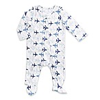 Aden® by aden + anais® Size 0-3M Long-Sleeve Planes Footie in White