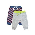 Rosie Pope Size 0-3M 2-Pack Fleece Pant in Grey/Stripe