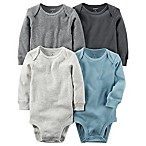carter's® Size 12M 4-Pack Long Sleeve Bodysuits