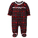 Little Me® Size 3M Plaid with Ruffle Footie in Red