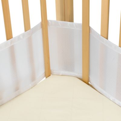 mesh crib liner for portable cribs and cradles in white