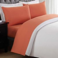 My World Solid Twin Sheet Set in Orange