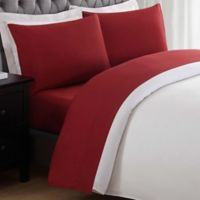 My World Solid Twin Sheet Set in Red