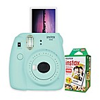 Fujifilm Instax Mini 9 Instant Camera Bundle in Ice Blue