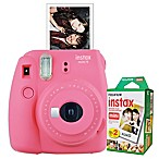 Fujifilm Instax Mini 9 Instant Camera Bundle in Flamingo Pink