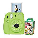 Fujifilm Instax Mini 9 Instant Camera Bundle in Lime Green