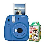 Fujifilm Instax Mini 9 Instant Camera Bundle in Cobalt Blue