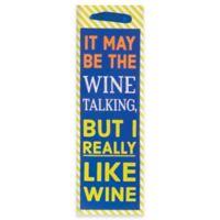 """Design Design """"I Really Like Wine"""" Bottle Tote Bag"""