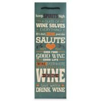 Design Design Wine Mottos Bottle Tote Bag