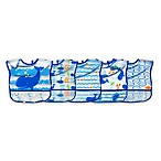 green sprouts® by i play.® 5-Pack Whale Wipe-Off Bibs in Blue