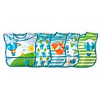 green-sprouts® by i play® 5-Pack Balloon Wipe-Off Bibs in Aqua