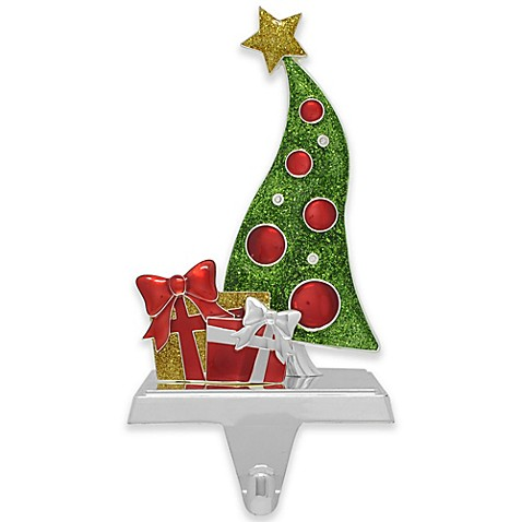 crystals from swarovski silver plated tree stocking holder - Silver Plated Christmas Tree Decorations