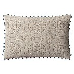 Magnolia Home by Joanna Gaines Ruby Oblong Throw Pillow in Grey/Slate