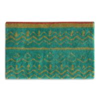 Bacova Boho Elephant 20-Inch x 30-Inch Bath Rug in Green/Beige