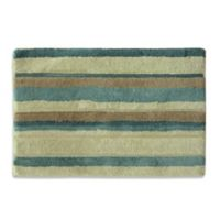 47979adfbebe Bacova Tetons Stripe Bath Rug in Ivory/Brown