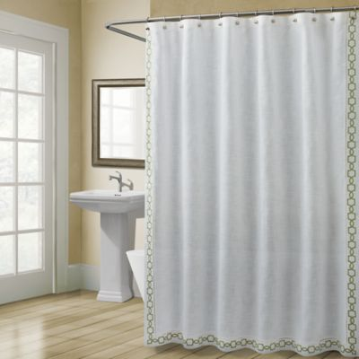 bed bath and beyond bathroom curtains. Croscill  Landon 54 Inch x 78 Stall Size Shower Curtain in Green Buy Curtains from Bed Bath Beyond