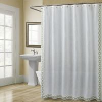 Croscill® Landon 54-Inch x 78-Inch Stall Shower Curtain in Green